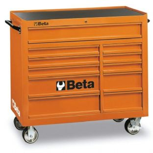 Beta C38-O Mobile Roller Cab With Eleven Drawers (Orange)